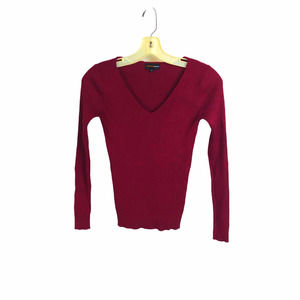 Ambiance Apparel Maroon V-neck Pullover Sweater